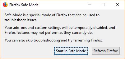 Как запустить Firefox в безопасном режиме?